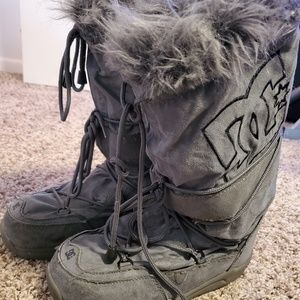 DC winter furry boots
